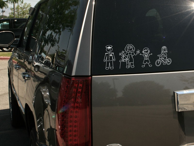 Family stickers family car stickers