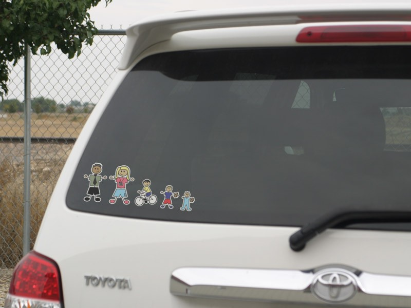 Small color family stickers