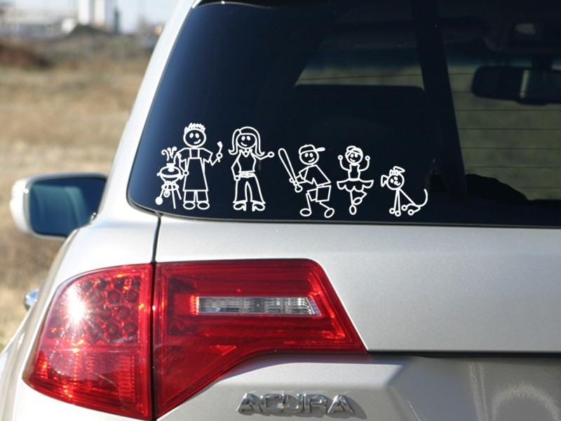 My Family Car Window Stickers Uk