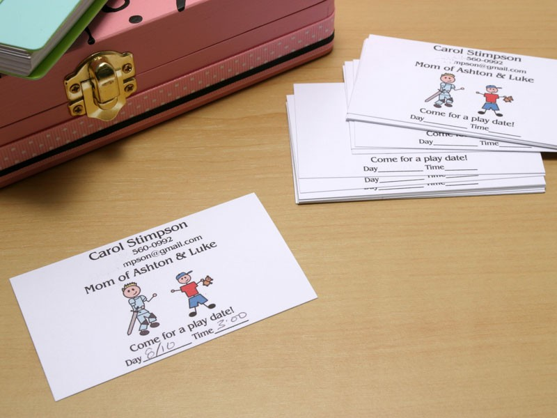 Play Date Cards | Mommy Cards | Mommy Business Cards | Mommy Calling ...