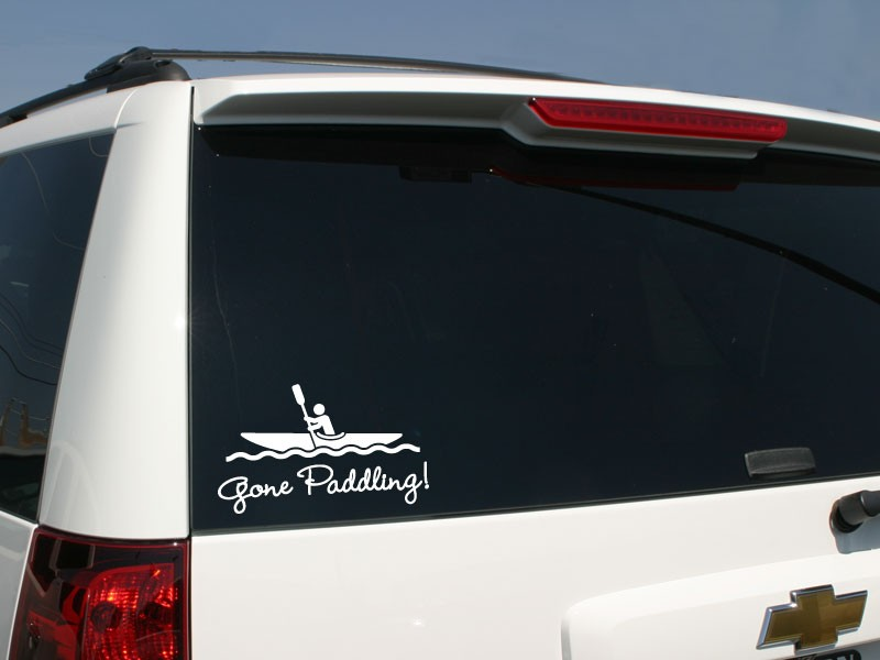 Kayak car sticker kayak decal familystickers com