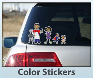Color Family Stickers