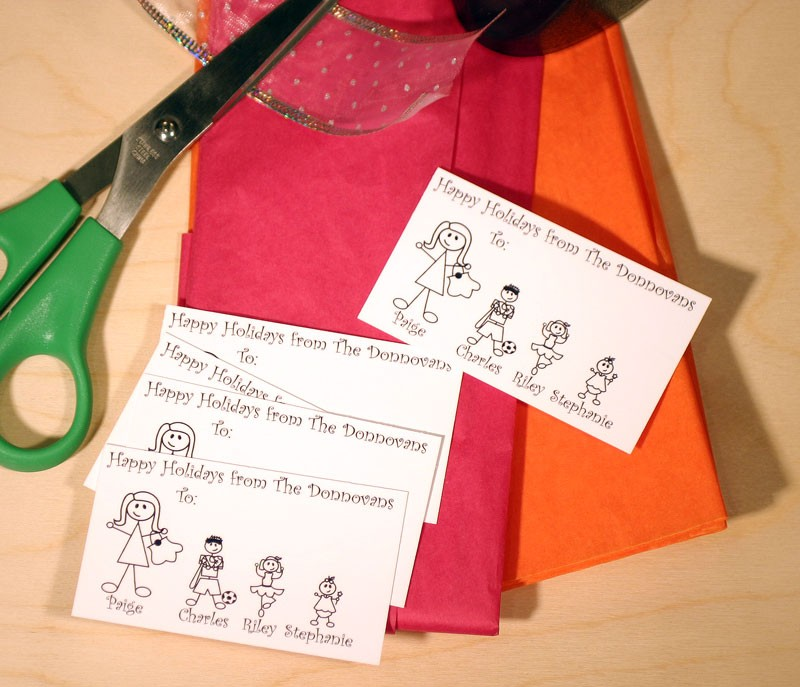 Personalized Gift Tags Custom