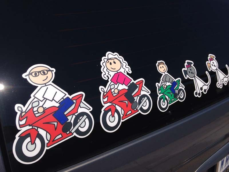 Stickers Family Color