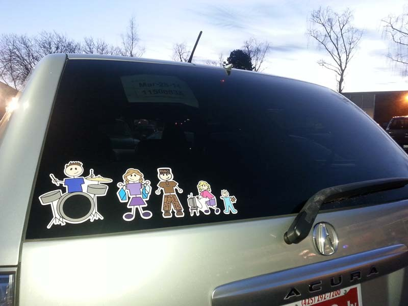 More views full color family stickers