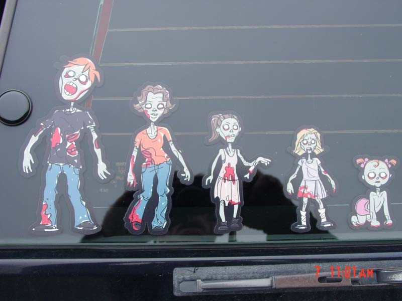 Custom Zombie Family Car Stickers