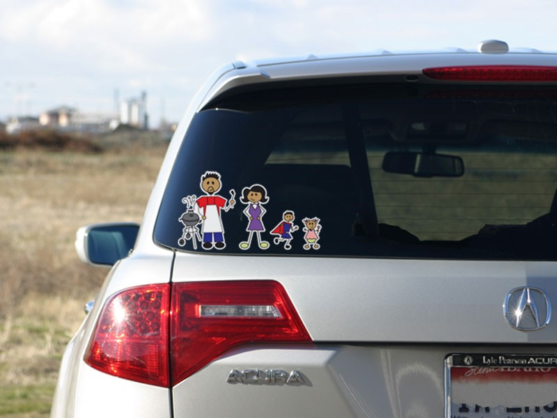 Full color family stickers