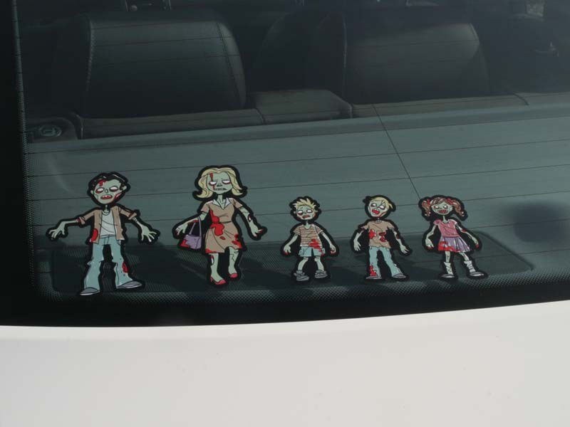 Zombie Family Stickers Zombie Car Stickers